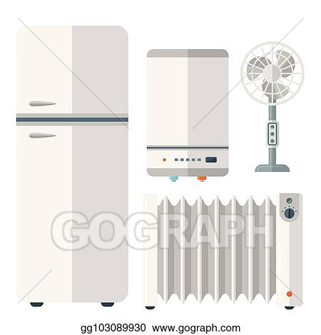Vector Art Home Appliances Vector Domestic Household