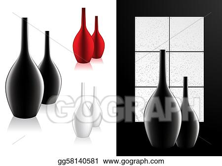 Drawing Home Decor Modern Vase Clipart Drawing Gg58140581 Gograph