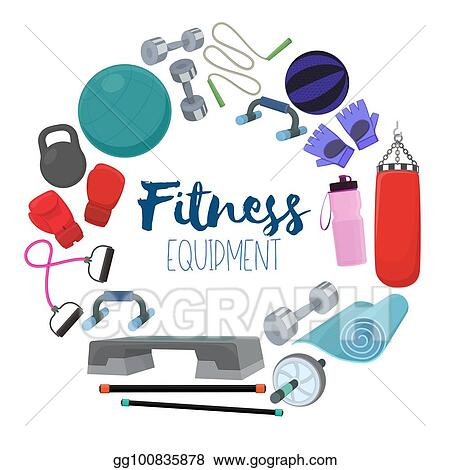 Vector Illustration Home Gym Equipment Eps Clipart Gg100835878 Gograph