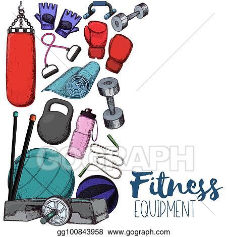 e804c172e Vector Illustration - Home gym equipment. EPS Clipart gg100843958 ...