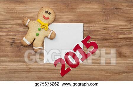 Clip Art Homemade Christmas Painted Gingerbreads Gingerbread Man