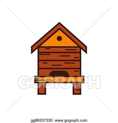 Honey Bee Beehive Illustration