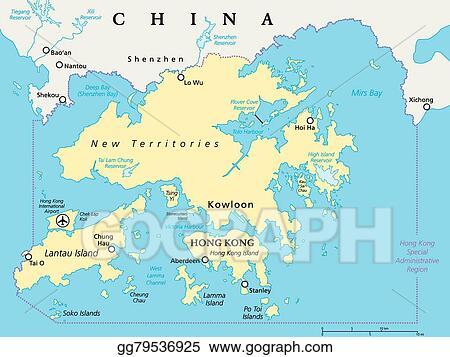 Vector Illustration - Hong kong and vicinity map. EPS ...