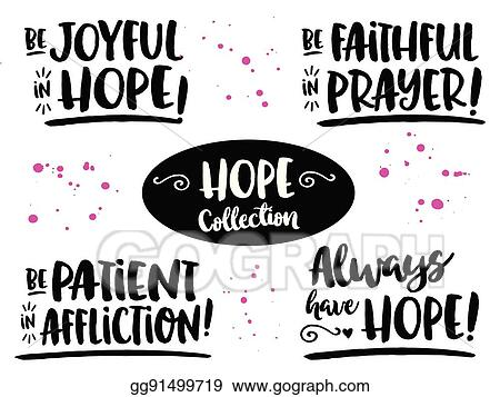 clip art vector hope bible scripture phrases collection stock eps