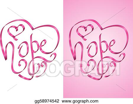 vector art hope breast cancer awareness clipart drawing rh gograph com breast cancer awareness symbols clip art breast cancer awareness clip art pictures