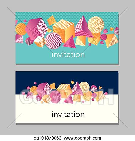 EPS Illustration - Horisontall abstract vivid card  concept color 3d