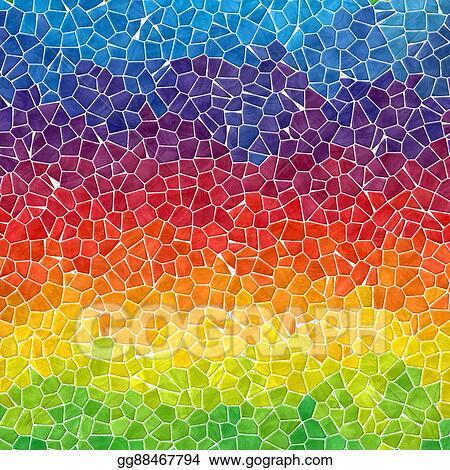 Stock Illustration Horizontally Striped Rainbow Colored