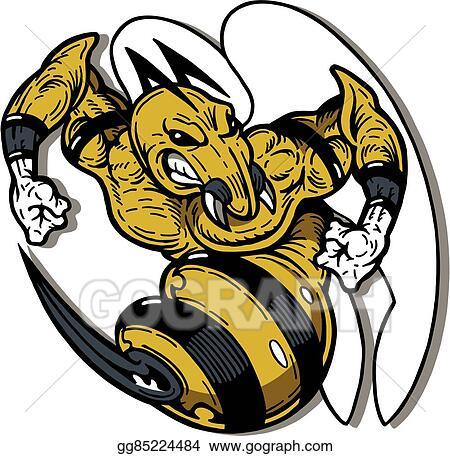 Vector Art Hornet Mascot Clipart Drawing Gg85224484 Gograph