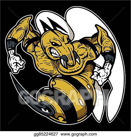 Vector Art Hornet Mascot Clipart Drawing Gg85224627 Gograph