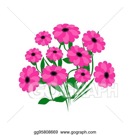Stock illustration hot pink flowers clipart drawing gg95808669 hot pink flowers mightylinksfo