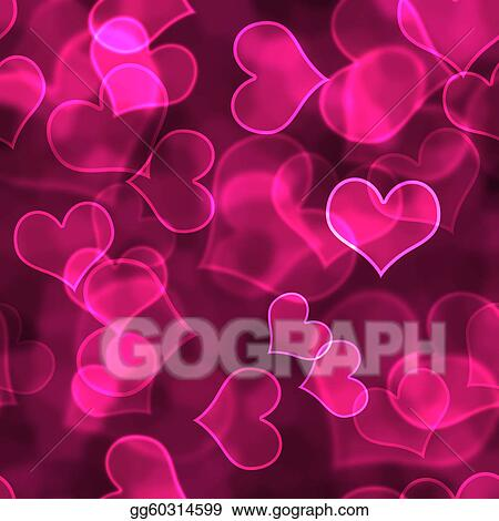 Stock Illustration - Hot pink heart background wallpaper ...