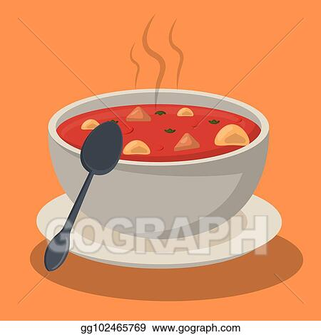 eps vector hot soup pasta vegetables bowl dish spoon stock clipart illustration gg102465769 gograph https www gograph com clipart license summary gg102465769