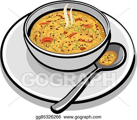 Vector Stock - Hot vegetable soup. Clipart Illustration ...