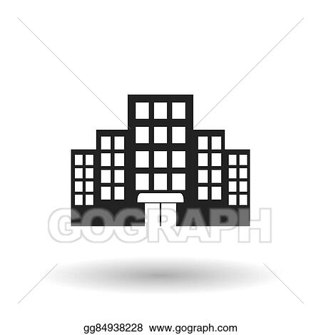 Hotel Building Design Vector Illustration