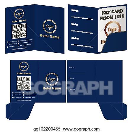 Eps Illustration Hotel Key Card Holder Folder Package Template