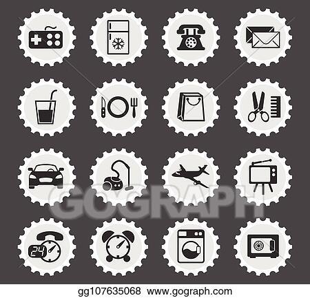 Vector Stock Hotel Room Service Icon Set Clipart Illustration Gg107635068 Gograph