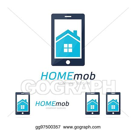 Stock Illustration House And Phone Logo Combination Real Estate