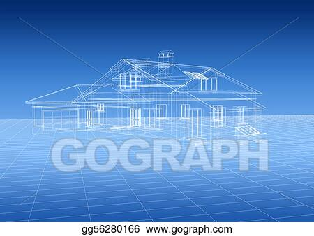 Stock illustration house blueprint clipart illustrations house blueprint malvernweather Gallery