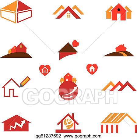 Vector art house office logo icons for real estate business eps house office logo icons for real estate business reheart Image collections