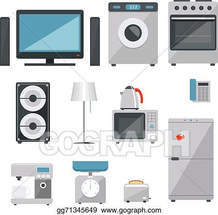 EPS Illustration - Household appliances  Vector Clipart gg71345649