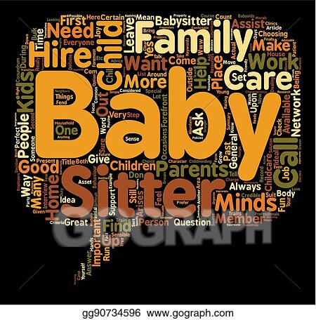 vector art how to hire the perfect baby sitter or the child care