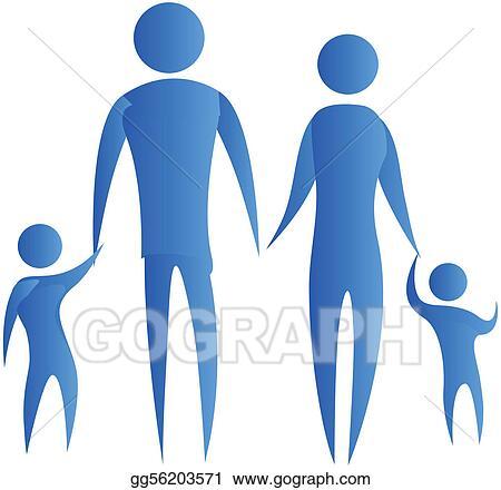 clip art human family holding hands stock illustration gg56203571