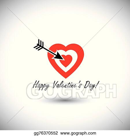 Vector Stock - Human heart icon as target for arrow for