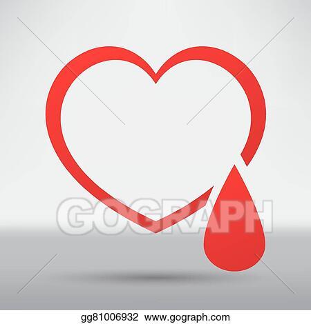 EPS Vector - Human heart icon  Stock Clipart Illustration