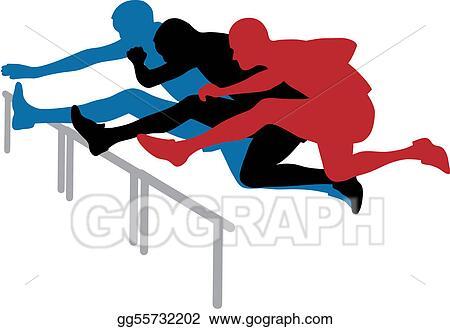vector stock hurdle race stock clip art gg55732202 gograph rh gograph com hurdle race clipart