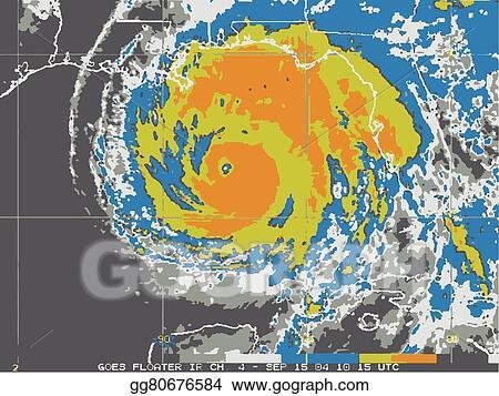 Clip Art Vector Hurricane Map Stock Eps Gg80676584 Gograph