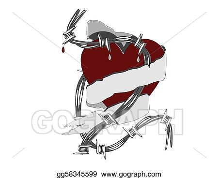 Vector Art - Hurting love. Clipart Drawing gg58345599 - GoGraph