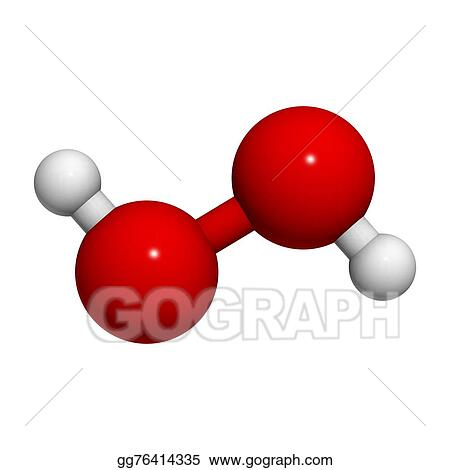 Stock Illustration Hydrogen Peroxide H2o2 Molecule Clipart
