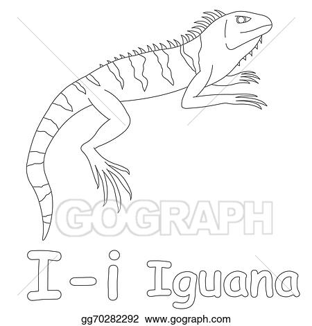 Stock Illustration I For Iguana Coloring Page Clipart