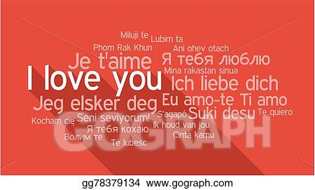 I Love You In Different Languages Word Tag Cloud