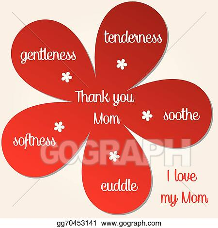 Vector Stock I Love You Mom Clipart Illustration