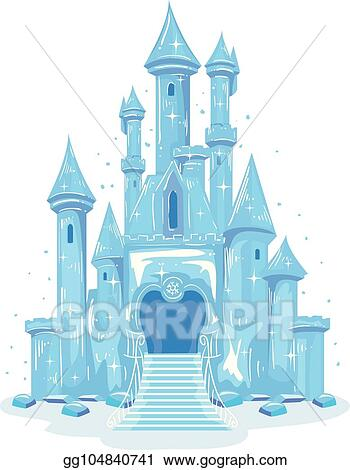 Vector Art - Ice castle illustration. Clipart Drawing ...