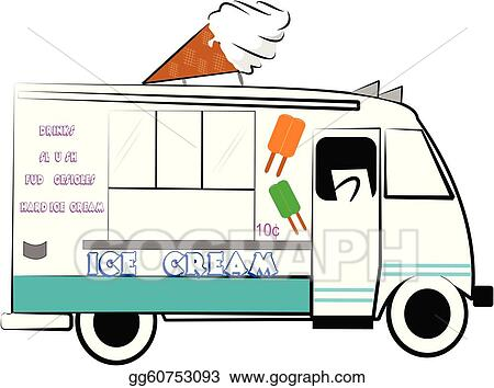 vector illustration ice cream truck eps clipart gg60753093 gograph rh gograph com