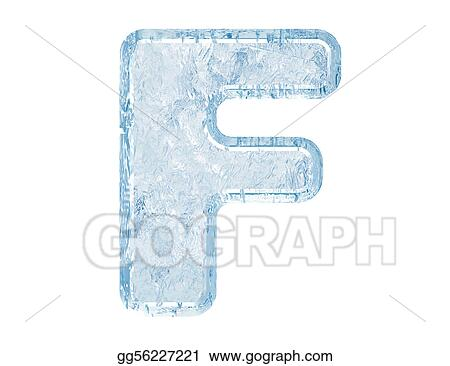 Ice Font Letter F