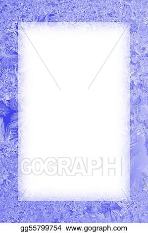 Drawings - Ice frozen frame. Stock Illustration gg55799754 - GoGraph