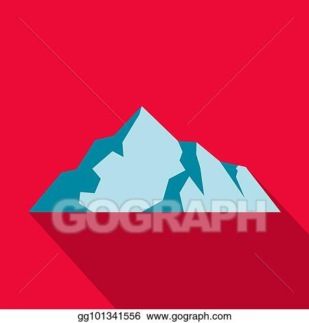 Vector Illustration Of Snow Mountains With Ice, Ocean And Light.. Royalty  Free Cliparts, Vectors, And Stock Illustration. Image 100287565.