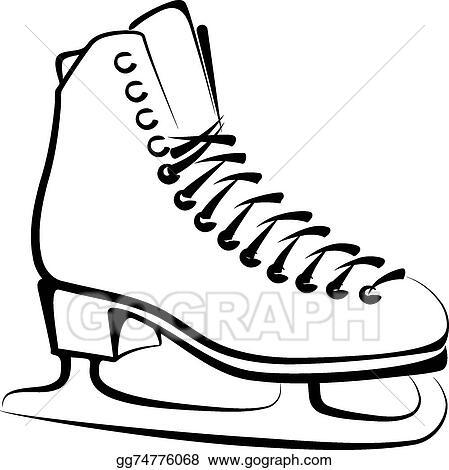 vector stock ice skate clipart illustration gg74776068 gograph rh gograph com ice skate clip art black and white ice skates clip art black line