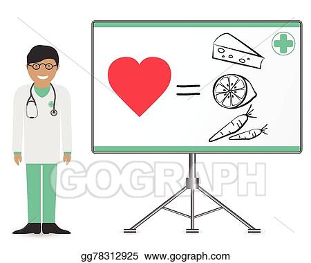 Vector Stock Icon Doctor With Stethoscope Clipart Illustration