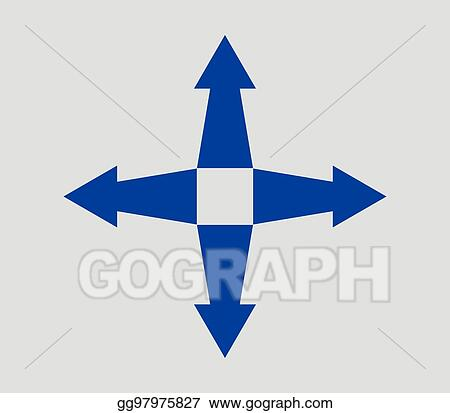 Vector Stock - Icon expand arrow  Clipart Illustration