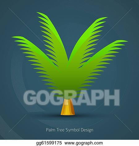 Eps Vector Icon Tree Design Palm Tree Symbol Stock Clipart