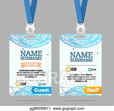 Vector Stock Id Card Template Plastic Badge Vector Stock Clip Art Gg96599811 Gograph