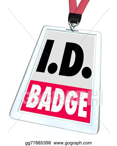 stock illustration id identification badge name tag access