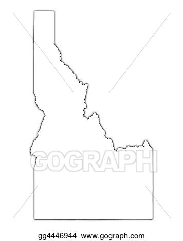 Stock Illustration - Idaho (usa) outline map. Stock Art ... on usa map roanoke, usa map guam, usa map virgin islands, usa map buffalo, usa map california, usa map long island, usa map akron, usa map fort worth, usa map cincinnati, usa map oregon trail, usa map indianapolis indiana, usa map cascade, usa map snake river, usa map nd, usa map by zipcode, usa map orange county, usa map little bighorn, usa map with oregon, usa map bahamas, usa map fort lauderdale,
