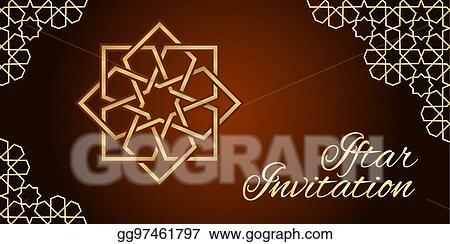 Eps vector iftar invitation card stock clipart illustration iftar invitation card stopboris Image collections
