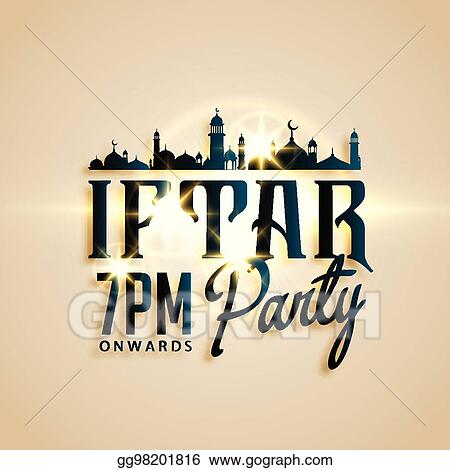 Vector clipart iftar party invitation card beautiful design iftar party invitation card beautiful design stopboris Image collections