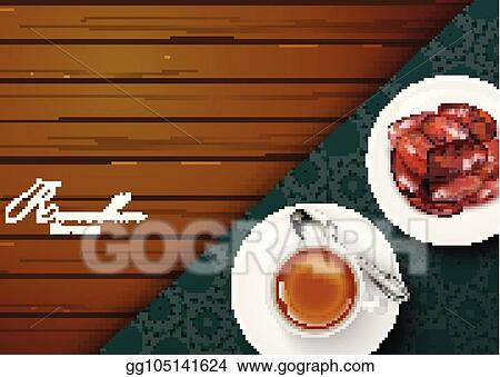 Vector stock iftar party invitation greeting ramadan kareem with iftar party invitation greeting ramadan kareem with traditional tea cup and a bowl of dates stopboris Image collections